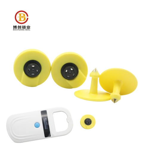 cattle management uhf rfid animal ear tag reader electrical ear tag