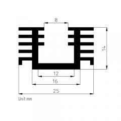 extruded heatsinks for PCB mounting