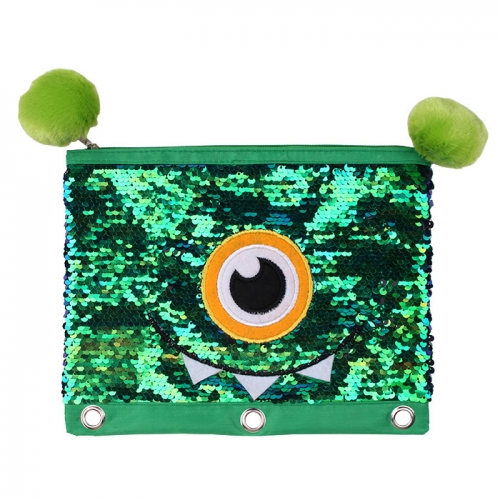 Sequin Pencil Case - Monster