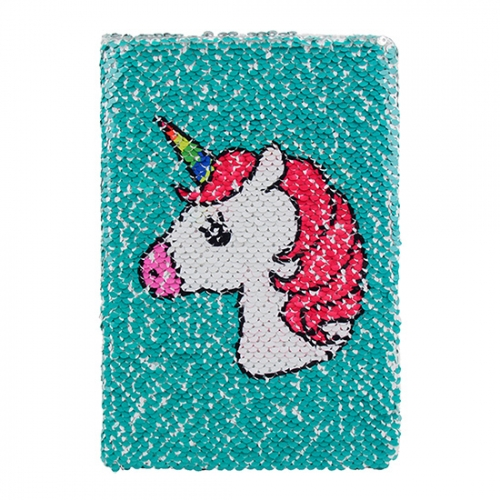 Sequin Notebook - Unicorn