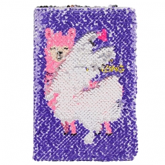 Sequin Notebook - Alpaca
