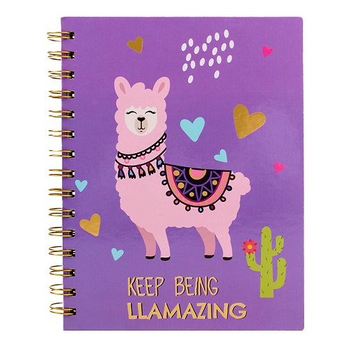 A5 Alpaca Spiral Notebook
