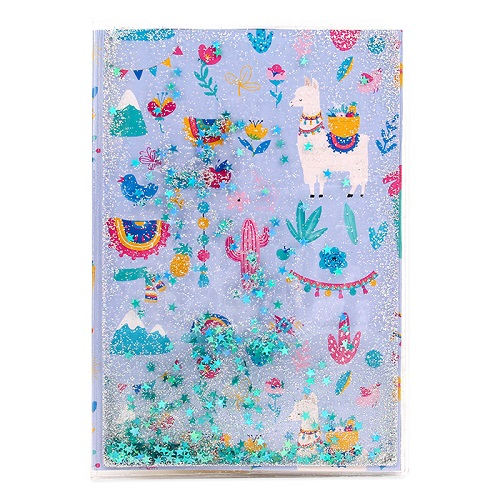 Alpaca Liquid Glitter Notebook