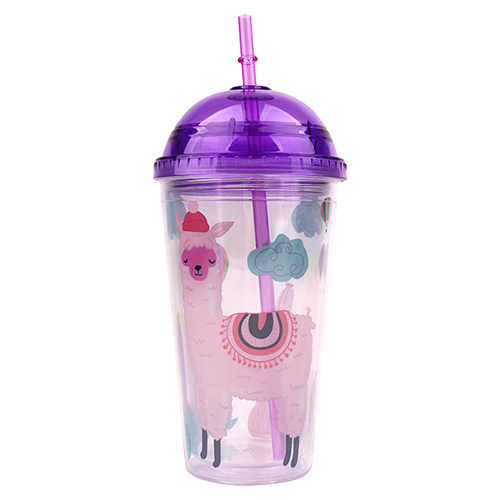 Alpaca Double Wall Tumbler with Straw