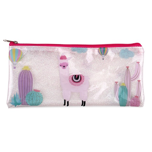 Clear Pencil Case - Alpaca