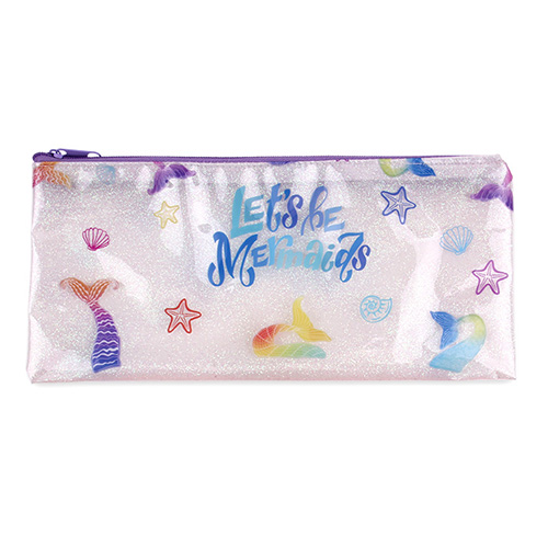 Clear Pencil Case - Mermaid