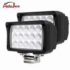 45W Rectangle SPOT LED Light Offroad Work Lamp For Truck ATV UTV Jeep OffRoad