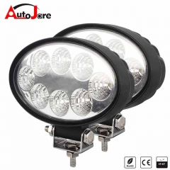 4.3 Inch 24W Square LED Work Light Bar Flood Offroad SUV Driving Fog Lamp