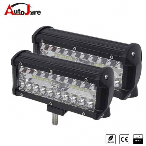 2x 7inch 120w CREE LED WORK LIGHT BAR OFFROAD JEEP 4x4WD Tractor Truck driving lamp