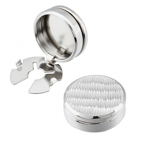 Button Cover for Men Wedding Cuff links for Traditional Shirt with Buttons Silver