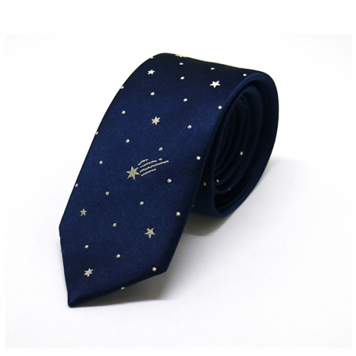 Deep blue polka dot tie classic design for men's shirts