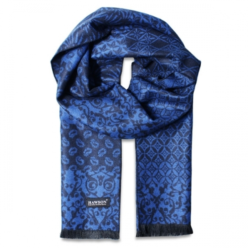Grass Printed Scarf, Dark Blue Scarf, Hot Sale Winter Scarves