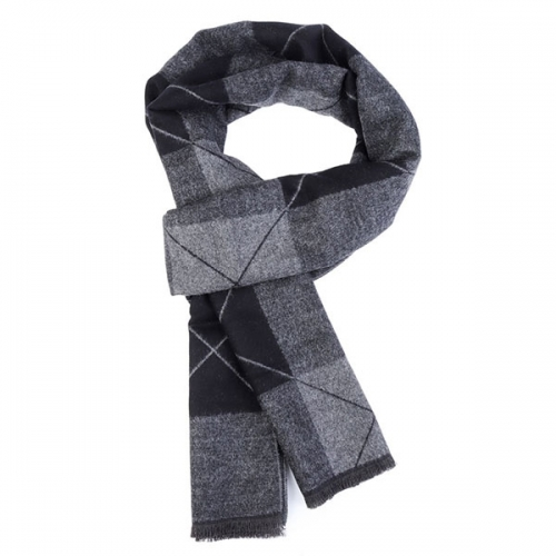 High Quality Gray Scarf Softable Striped Shawl for Christmas Gift