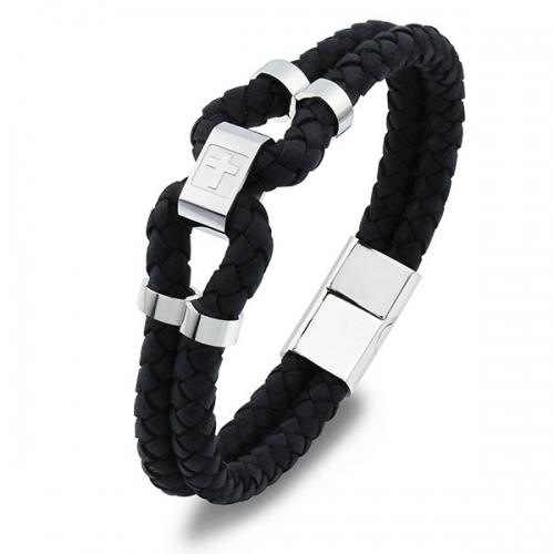 PU Leather Bracelet with Magnetic clasp