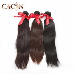 Virgin Malaysian weft hair extensions straight 2 bundles, raw human hair weave, free shipping