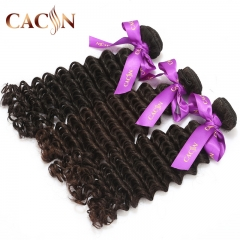 Indian deep curly virgin hair weave bundles 2pcs, 100% raw virgin hair, free shipping