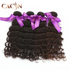 Indian virgin remy human hair​​​​​​​ deep wave 4 bundles, virgin hair weave, free shipping
