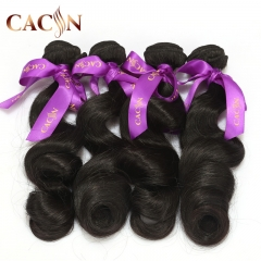 Indian hair weave loose wave 4 bundles, raw virgin indian hair, free shipping