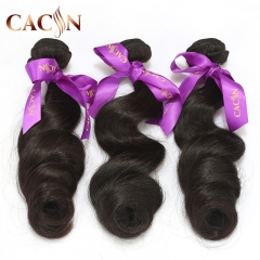 Indian virgin human hair loose wave 3 bundles, virgin hair weave, free shipping