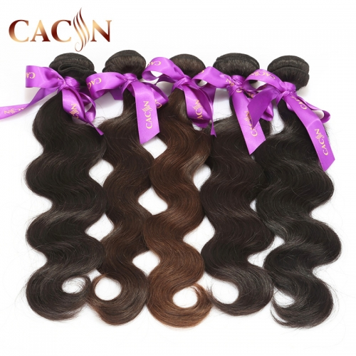 Raw virgin Indian temple hair body wave 1 bundles, human hair weave wavy bundles, free shipping
