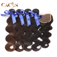 lace closure with 4 bundles hair, body wave virgin hair bundles with lace closure