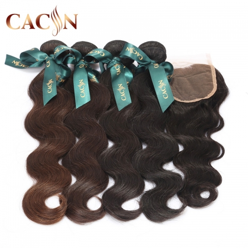 Peruvian virgin hair body wave 4 bundles with lace closure, 100% raw virgin hair, free shipping
