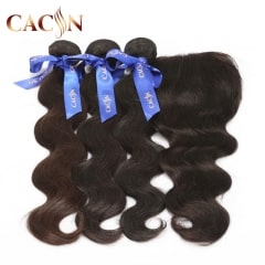 Brazilian virgin hair body wave 3 bundles with lace frontal, 100% raw virgin hair, Peruvian hair, Malaysian hair, and Indian hair