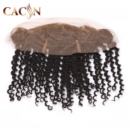 13x4 lace frontal virgin hair deep curly, Brazilian Indian Peruvian Malaysian hair