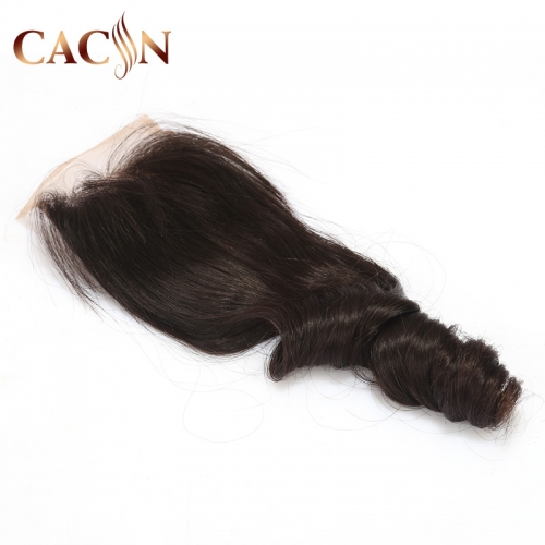 Virgin hair loose wave lace closure 4x4, Brazilian hair, Peruvian hair, Indian hair, and Malaysian hair lace closure