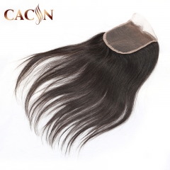 4x4 Raw virgin hair straight lace closure, Brazilian Indian Peruvian and Malaysian hair lace closure