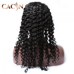 Deep wave lace front wig, 100% virgin human hair lace front wigs, free shipping