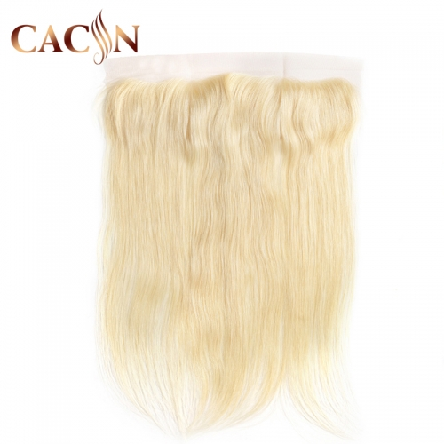 613 hair lace frontal 13x4, Bleached blonde Brazilian straight hair, 613 hair color