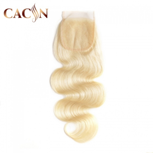 613 blonde 4x4 lace closure, Bleached 613 hair color, 613 Brazilian hair body wave