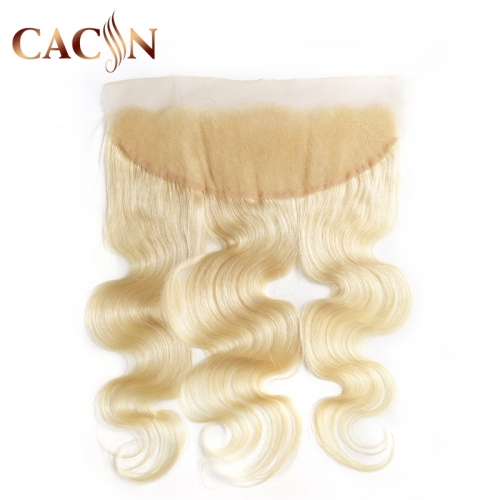 Bleached 613 lace frontal 13x4, Brazilian hair body wave, 613 blonde color