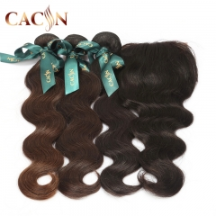 2 bundles with lace frontal, body wave natural virgin hair, Peruvian virgin hair with frontal