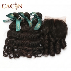 2 bundles hair with lace frontal, natural wave virgin hair, Brazilian Hair, Peruvian hair, Malaysian hair, and Indian hair with frontal