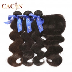 2 bundles and lace frontal body wave, cuticle aligned raw virgin hair, Brazilian hair with frontal