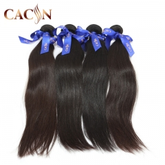 Brazilian straight natural hair weave 4 bundles, raw virgin hair, free shipping