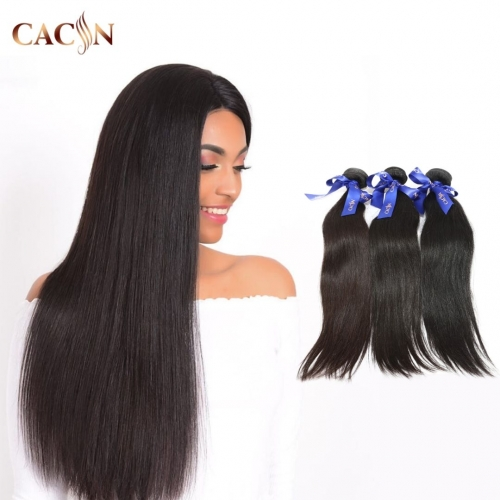 Straight Brazilian hair bundle deals 3&4 pcs, raw virgin hair, free shipping