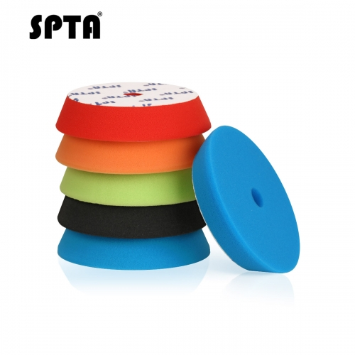 SPTA 1 Pcs 6inch (150mm) Flat Sponge Buff Polishing Pad Buffing Pads Kit For Car Polisher -Select Color