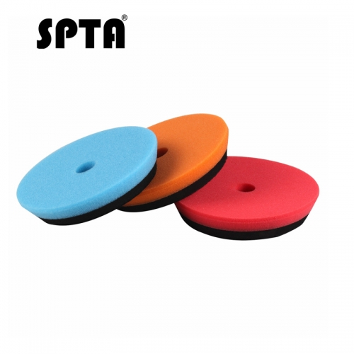 SPTA 6inch (150mm) Blue/Orange/Red HD DA Polishing Pad Buffing Pads For 5inch (125mm) RO / DA Rupes Random Orbital Car Polisher