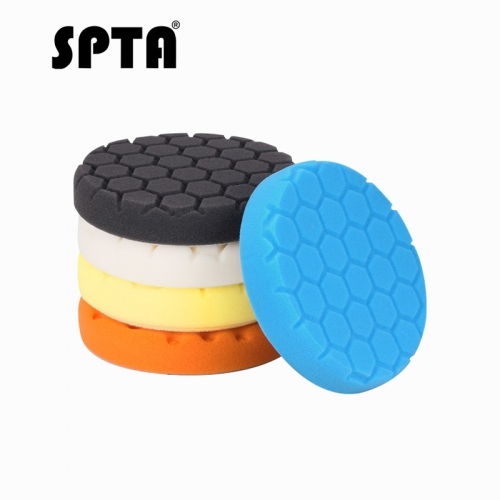 SPTA 7inch 180mm Car polishing pads Foam Buffing Polishing Pads Buffing Pads Car polishing pads For DA /RO Car Polisher