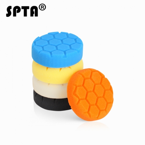 "SPTA 4"" (100mm) Polishing Pad Buffing Polishing Pad Set For DA / RO Car Polisher"
