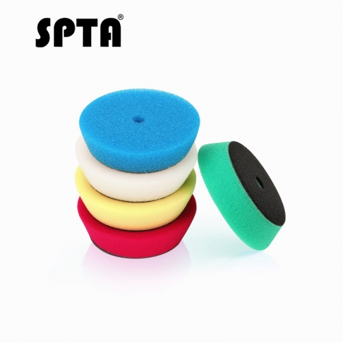 "SPTA 5pcs Polishing Buffing Pad 3"" 75mm Mix Color Kit For 3 inch Backing RO/DA/Air Polisher, Random Orbit Dual Action Polisher"