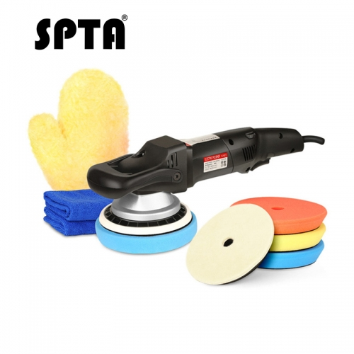 SPTA 5 inches (125mm) 1200W Forced rotation Dual Action polisher, DA Polisher Car Polisher & Polishing Pads