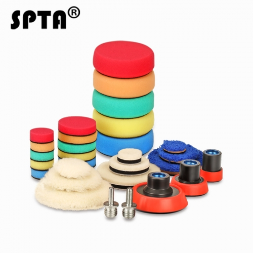 SPTA 29Pcs Drill Buffing Buffer Detail Polishing Polisher Pad Kit