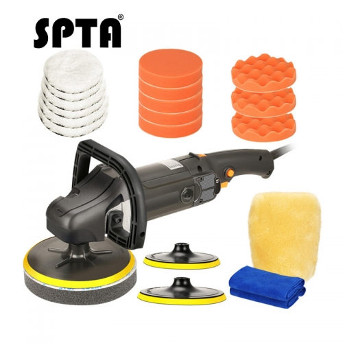 SPTA 7 Inch 180mm Variable Speed Rotary Polisher Car Paint Care Tool Polishing Machine Sander M14 Thread Electric Polisher