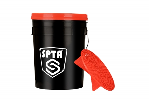 SPTA Grit Guard Wash Bucket with Lid - Professional, Heavy Duty 5 Gallon Detailing Bucket For Car Motorbike Turck Wash Cleaning