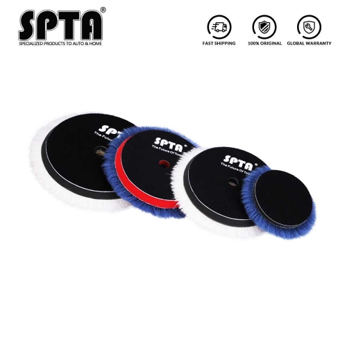 SPTA 3inch/ 5inch/ 6inch Lambs Woollen Polishing Buffing Pad Polisher Pads For Car Polisher Detailing Waxing Polishing Buffer