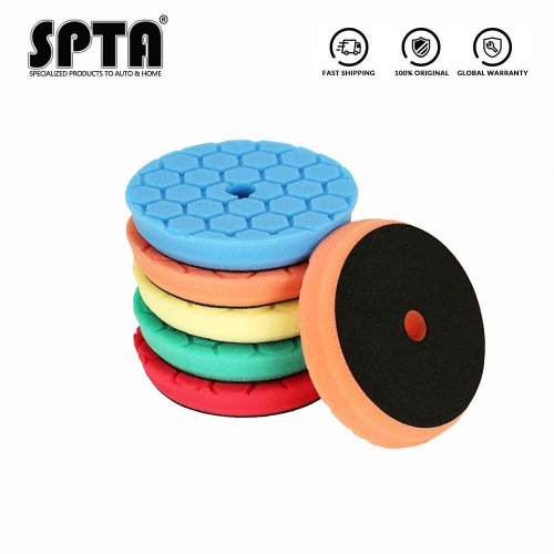 SPTA Hex-Logic Car polishing pads Foam Buffing Pads with Beveled Edge for RO and DA Polisher